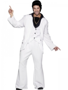 1970's White Fancy Dress Suit & waistcoat