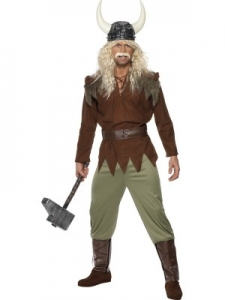 Viking Man Costume - Brown