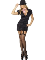 1920's Fever Gangster Pin Stripe Fancy Dress Costume with Tie