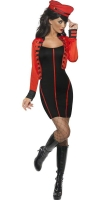 Ladies Military Cheryl Cole Pop Starlet Costume