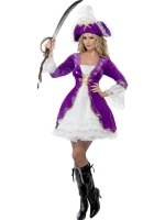 Ladies Fever Purple Pirate Costume