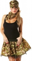 Army Ladies Tutu Fancy Dress set