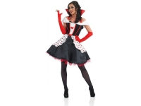 Adults ladies Queen of hearts fancy dress costume