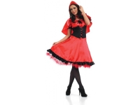Adults ladies red riding hood fancy dress jacket