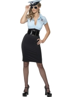 Ladies Sexy police  woman Cadet Fancy dress Costume
