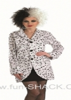 Adults ladies dalmation fancy dress jacket