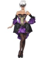 Ladies Midnight Baroque Masquerade Costume