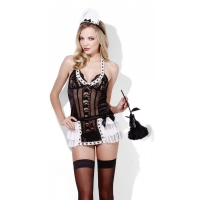 Valentines womens Sexy french maid at your service, soucy lingerie