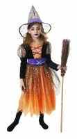 Girls Deluxe Star witch Costume