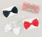 Bow Tie 'Satin Black White or Red'