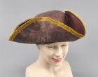 Brown Pirate Style Tricorn Hat