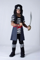 Caribbean Tattoo Pirate Boy Costume