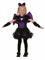 Girls Halloween Fancy Dress costume bat princess 2-3 yrs