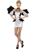 Fever Bat Vamp Halloween Fancy Dress Costume