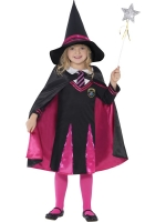 Girls Halloween School Girl Witch Costume