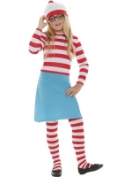 Girls Where's Wally 'Wenda' Costume