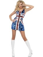Glitter Rule Britannia Union Jack Dress