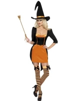 Halloween Fever Pumpkin witch Fancy Dress Costume