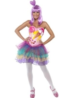 Ladies Pop Star Katy Perry Candy Girl Costume