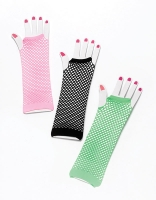Long Fishnet Gloves 3 Colours