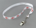 Metal Whistle with St George Cord