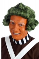 Green Oompa Loompa Fancy Dress Wig