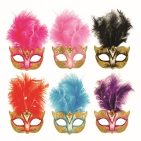Deluxe glitter, feather Masquerade Eye Mask Fancy Dress various colors