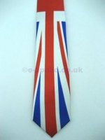 Union Jack Jubilee Long Satin Tie