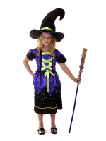 Girls Purple witch Costume