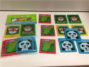 Jungle Animal party mini slide puzzles pack of 10