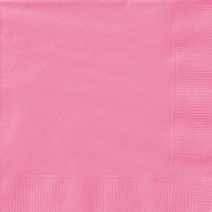 Pink plain birthday party napkins 2ply 20 in pack