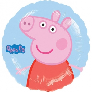 Peppa Pig Blue Round Foil Balloon Birthday Helium 18""