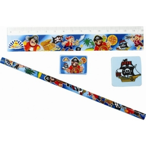 4 piece pirate stationery set party bag fillers