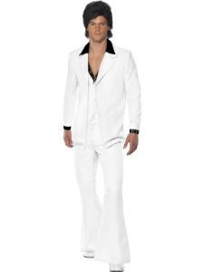 1970's White Fancy Dress Suit