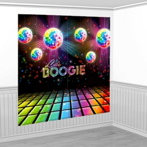 1970s Disco Fever Scene Setter Wall Decorating Kit - 1.7m Party Decoration