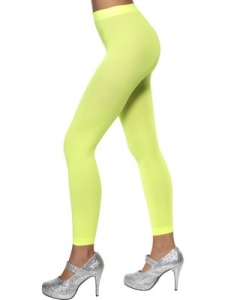 1980's Neon Footless Tights green