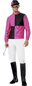 Mens Jockey Fancy Dress Costume