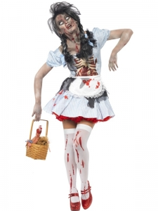 Zombie Dorothy Halloween Fancy Dress Costume
