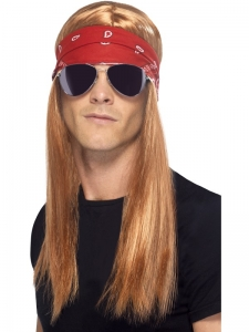 1990s Rock star fancy dress wig