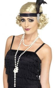 Fancy Dress 1920's Flapper accessory Pearl Necklace 180cm Long