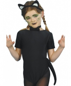 Childrens / adults Fancy dress Cat Instant Set, Black