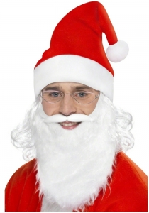 Santa Kit with Beard Hat wig and glasses