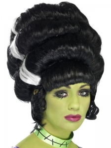 Halloween Black & white Pin Up Frankie Wig
