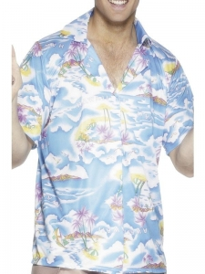 Hawaiian Magnum P.I. Shirt blue