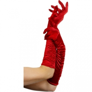 Sexy Long Red Temptress Gloves