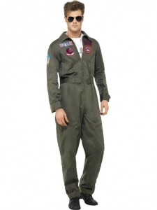 Adult Top Gun Deluxe Aviator Pilot Costume
