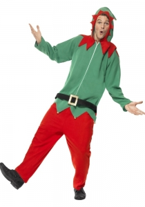 Mens Elf Jumpsuit onesie Costume