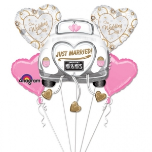 Just Married Balloon Wedding Bouquet Party Celebration Decoration