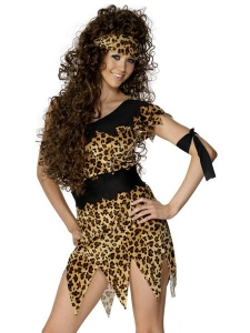 Ladies Deluxe Tarzan Cave Girl Fancy Dress Costume