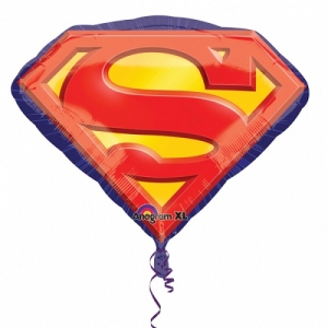 Superman Emblem SuperShape Foil Balloon Party Celebration Decoration 31""